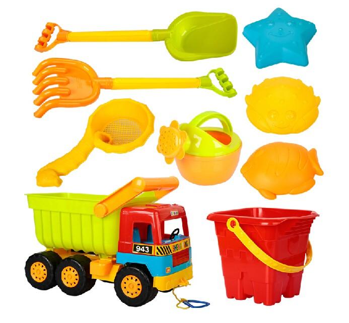 Children Beach Toys Sand Truck 9pcs/Set