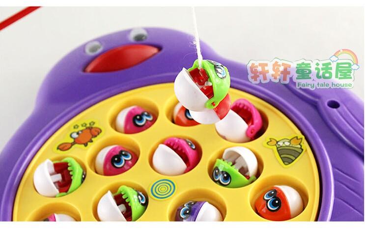 Electronic Rotating Fishing Toy Set -- Penguin