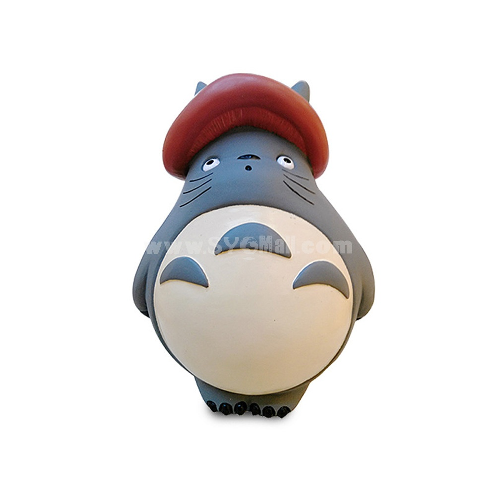 Totoro Figure Toy Piggy Bank Money Box XZH 109-4 -- Mushroom