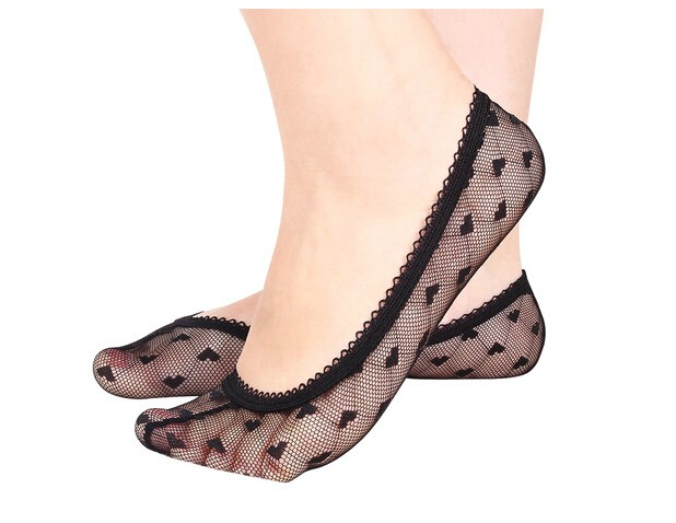 Woman Lace Boat Socks 10 Pairs/Lot