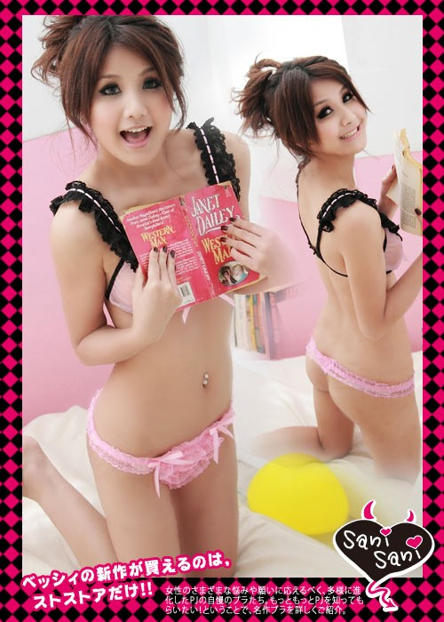 Lady Sexy Panties G-string Lace Bowknot Underpants Panties 8015