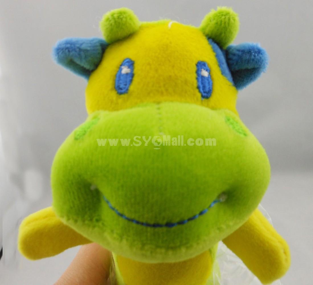 Lamaze Handbell BB Tattles BB Stick -- Green Cow