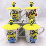 Wholesale - The Minions Despicable Me 2 Ceramic Mug Cup with Silicone Lid