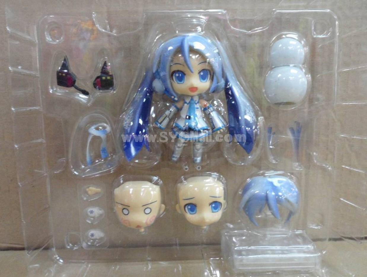 "Hatsune Miku Snow Miku Face Changing Figure Toys 10cm/3.9"""