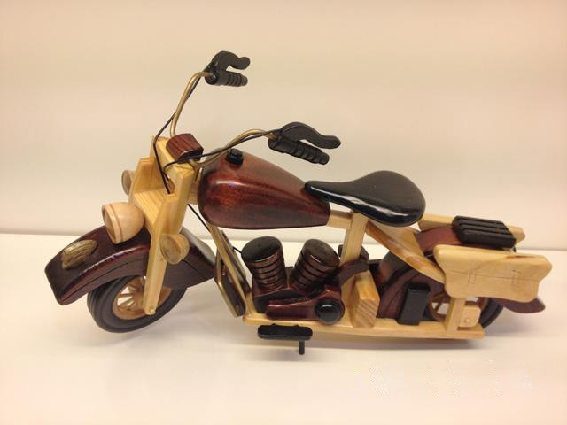 Handmade Wooden Decorative Home Accessory Vintage Motorcycle Classic Motorcycle Model 1002