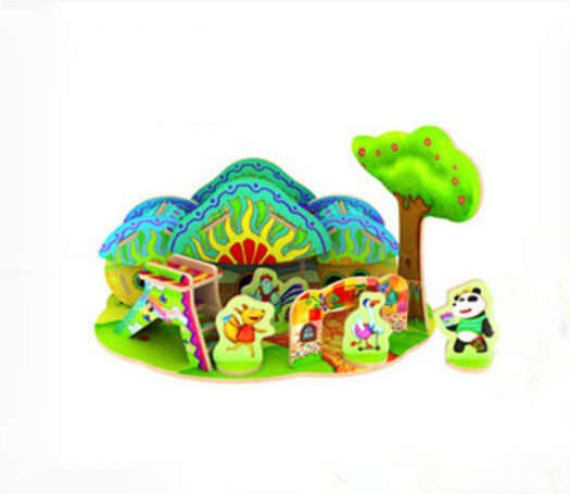 DIY Wooden 3D Jigsaw Puzzle Model Colorful House F107