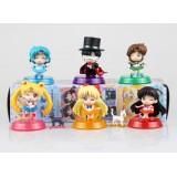 Wholesale - Sailor Moon Figures Toys 6pcs/Lot 6cm/2.4inch