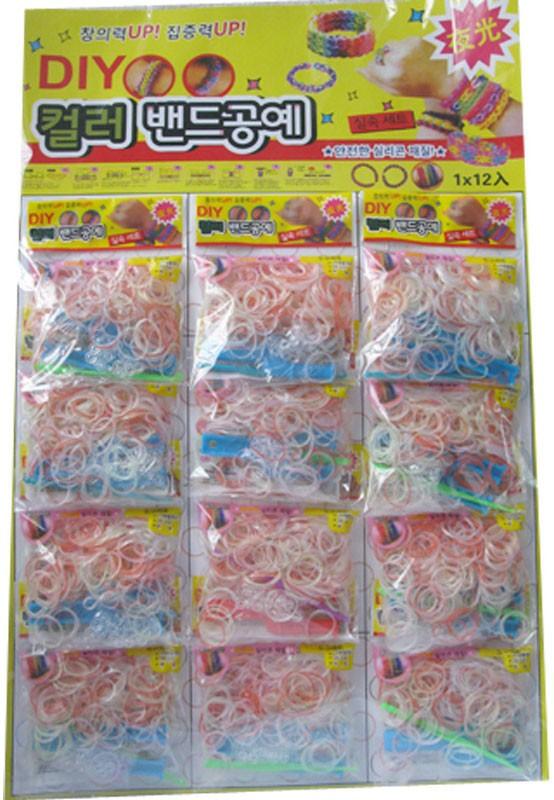 DIY Rubber Band Bracelet Loom Bracelet Refills Children Toy Gift 12 Plastic Bags/Kit