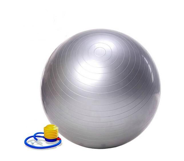 75cm Yoga Ball with Air Pump Health Balance Pilates Fitness Equipment