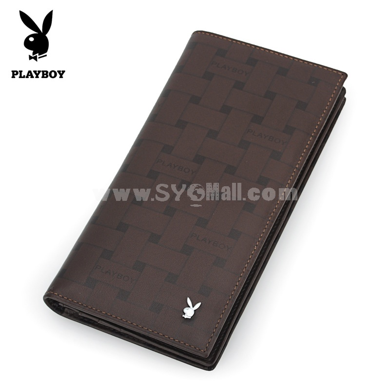 Play Boy Men's Long Leather Wallet Purse Notecase PAA2131-11