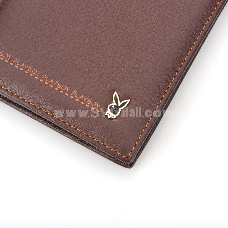 Play Boy Men's Long Leather Wallet Purse Notecase PAA0951-11