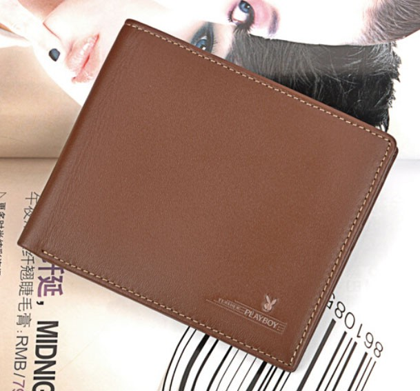 Playboy Men's Short Leather Wallet Purse Notecase PAA1552-11