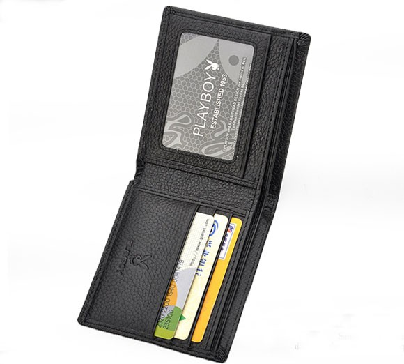 Playboy Men's Short Leather Wallet Purse Notecase 0433