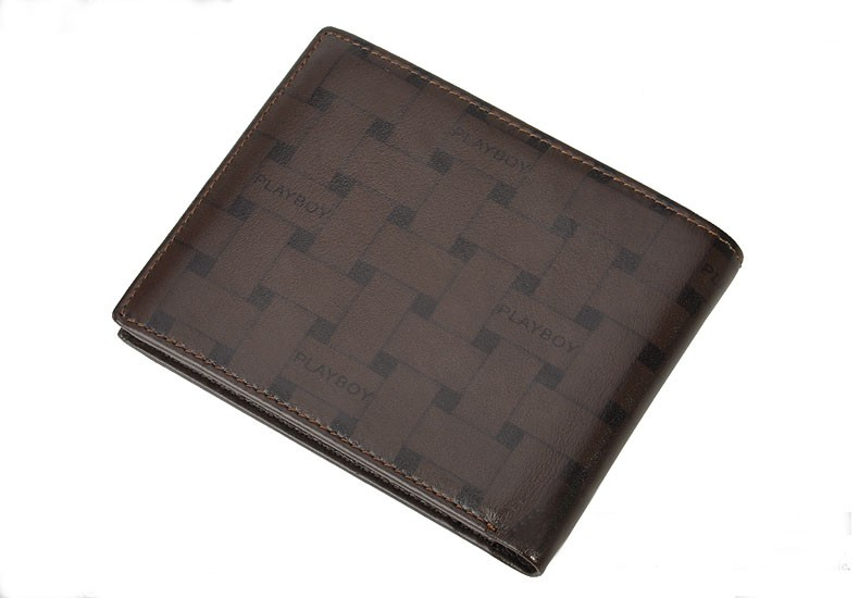 Playboy Men's Short Leather Wallet Purse Notecase PAA2133-11