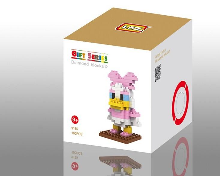 LOZ Diamond Mini Block Toys Cute Cartoon Toys Action Figure - GIRL DUCK