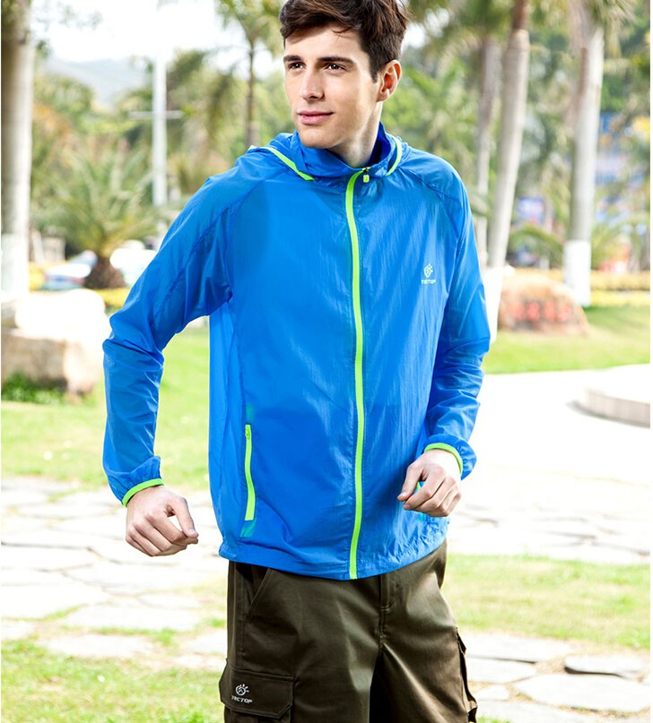 Men Waterproof Breathable Bicycle Coat Light Sun Protection Clothing Quick-Dry Clothes JL4001