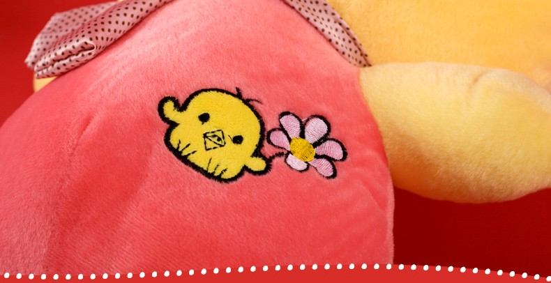 "Cute Little Yellow Chick SimSimi Plush Toy 44cm/17.3"" -- Pink"