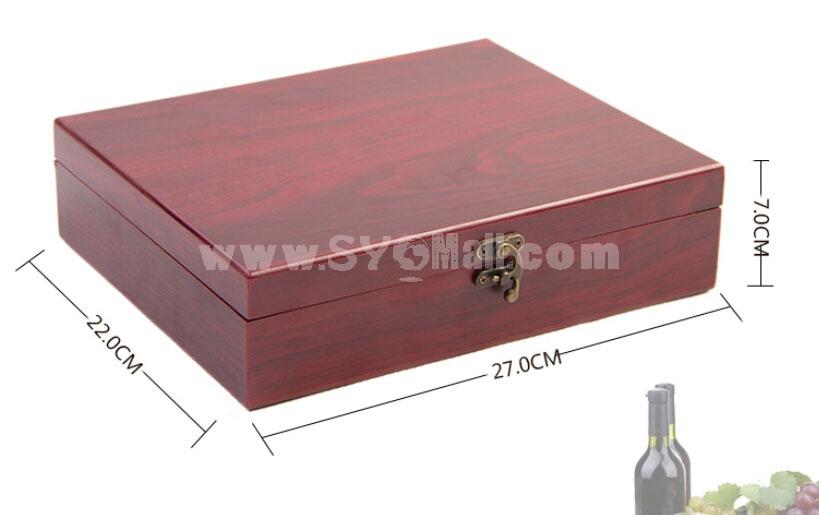 Automatic Wine Opener Set Rabbit Head Wooden Wine Tools Box Set A010