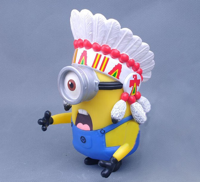 Despicable Me The Indian Mininons Figure Toys 15cm/5.9inch